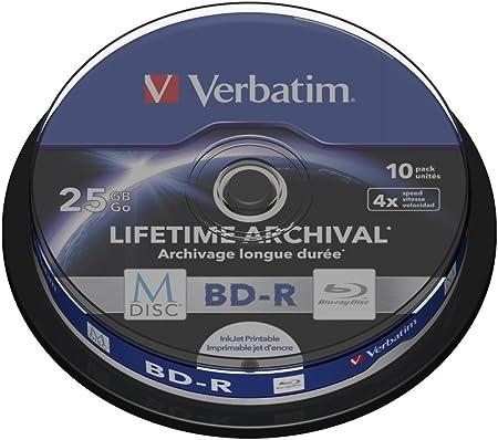 Verbatim Mdisc Bd R Blu Ray Rohlinge 25 Gb I Computer Zubehör