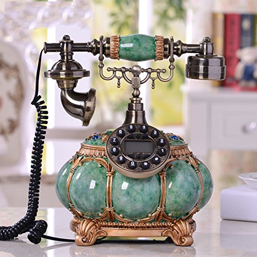 European Antique Telephone Home Retro Telephone landline Fixed Telephone-Green