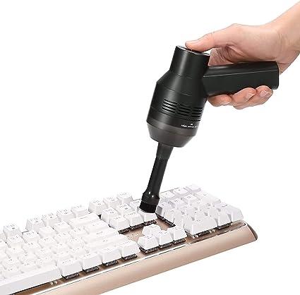 MECO Mini Aspirador de Teclado para Ordenador, Aspiradora Portátil Inalámbrico Recargable con Li-batería Aspirador con Gel, para Coche, Mesa, ...