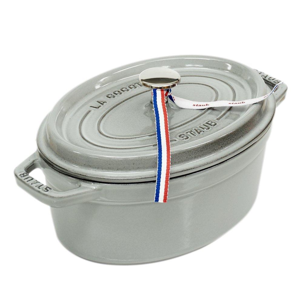 ストウブ ピコ ココット オーバル 鋳物 ホーロー 鍋 なべ 調理器具 キッチン用品 グレー 23cm 2.35L 1102318 [並行輸入品]   B079XTZLSN