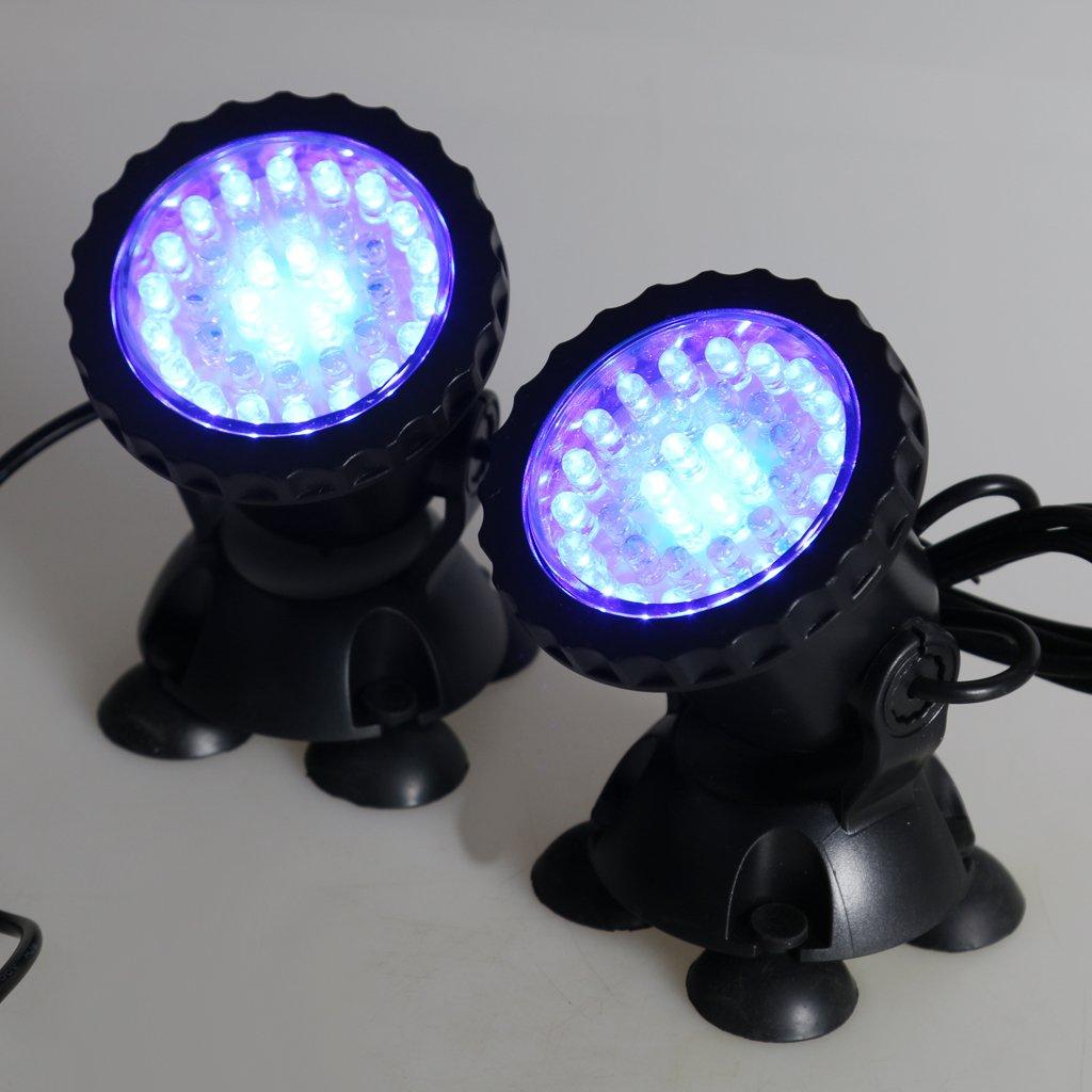3 Pi/èces Blanc Homyl Spot /à 36LEDs Spotlight Projecteur pour Aquarium Etanche EU