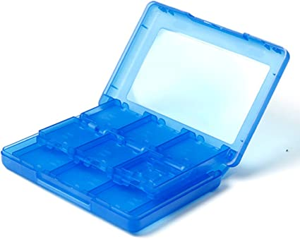 Azul Memoria 28en1 Juego Sostenedor Caja Tarjeta SD Para Nintendo ...