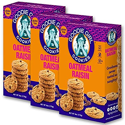 Goodie Girl Cookies, All Flavors, Peanut Free and Gluten Free Delicious Snack Cookies (Pack of 3)
