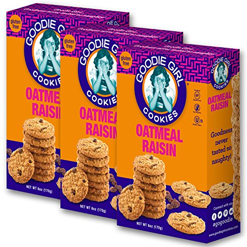 Goodie Girl Cookies, Oatmeal Raisin Gluten Free Cookies, Peanut Free Cookies, Kosher (6oz Box, Pack of 3)]()