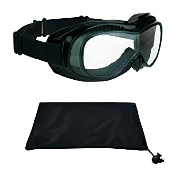 d6b6f9129e2 Motorcycle Goggles Over Rx Prescription Glasses with Polycarbonate Safety  Clear Lenses. Bomber Clear  Amazon.co.uk  Car   Motorbike