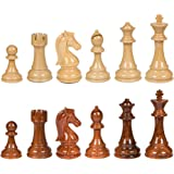 Nero High Polymer Extra Heavy Weighted Chess Pieces with Extra Queens – Pieces Only – No Board – 4.25 Inch King