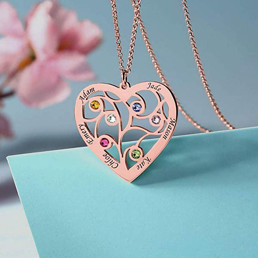 Nieedin 925 Silver Custom Engraved Name Pendant Necklace Hollow Shape Classic Female