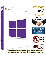 Windows 10 Pro 32/64 Bits Licence - Français - Clé d'activation originale et livraison gratuite par e-mail - Assistance et instructions (Satisfait ou remboursé) - Licence perpétue