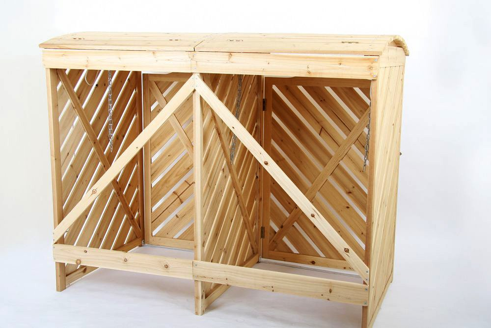 Popolare Jago MEMB01 contenitori differenziata box in legno: Amazon.it  XG74