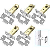 RMENOOR Insteekslot, aluminiumlegering, buisframeslot, 45 mm, doornmaat, slot, hoogwaardig deurslot, kamerdeurslot met…