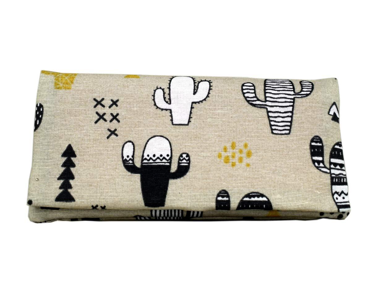 TABAKTASCHE Tabakbeutel YOLO Cactus - Tasche für Drehtabak anspruchsvollem Design und Fächern für Zigarettenfilter, Zigarettenpapier und Schnitttabak. Eva-Gummi Tasche. Bis zu 50 Gramm Tabak. FT-XXL-RES-62