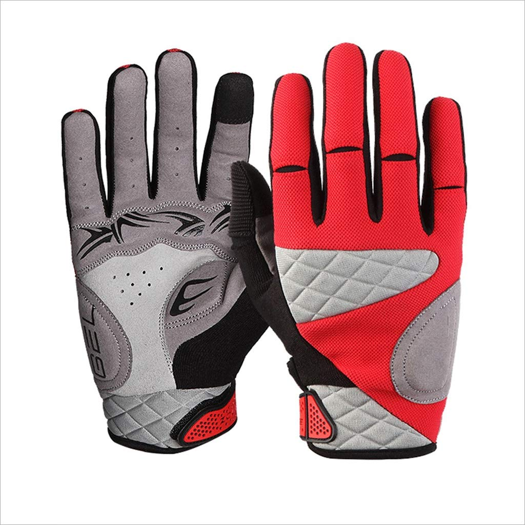 ZDYLL Touch Screen Gloves, Winter Gloves Driving Cycling Gloves Work Gloves for Men and Women (Size : RED-M) by ZDYLL