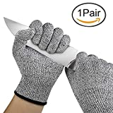 FreshDcart Anti Cutting Resistant Hand Safety Gloves Cut-Proof Level 5 Protection with Rubber Grade Finishing