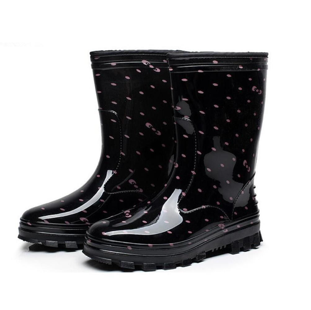 SIHUINIANHUA In der Tube Lady Regenstiefel Antirutsch-Regenstiefel Wasserdichte Schuhe 3 3 3 37 289191
