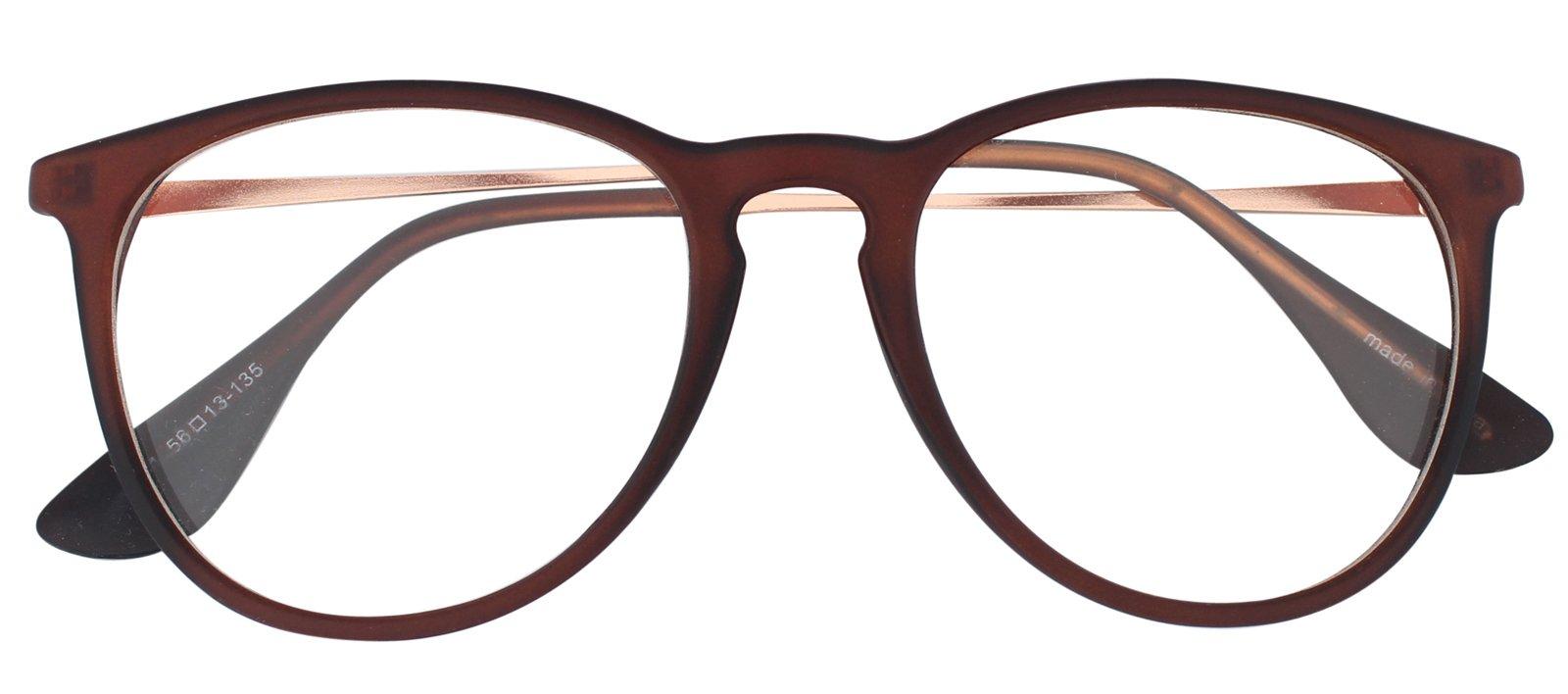 7b65fe15341 Galleon - Oversized Big Round Horn Rimmed Eye Glasses Clear Lens Oval Frame  Non Prescription (Brown 41719)