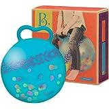 B.Toys 比乐 发光跳球 跳跳球 蹦蹦球 弹力球 儿童健身球 摇摇球 自带打气筒 蓝色款  婴幼儿童益智玩具 礼物3岁+ BX1511Z