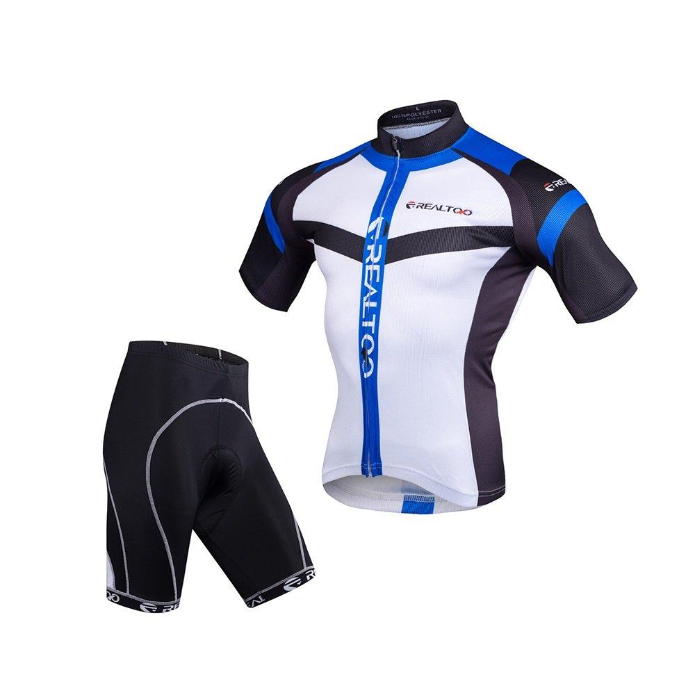 LiangyndaLian Herren Radtrikot Sommer Radsportbekleidung Road Breathing Radfahren 3D Quick-dry gepolsterte Shorts Set