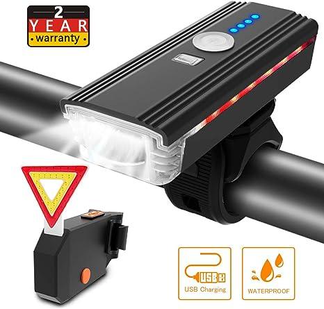 Ultra Bright Waterproof Silicon DEL Bike Light Set 2LED avant arrière Lampe de sécurité