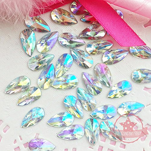 Find Discount 30 pcs 8x13mm Teardrop Light Crystal AB Acrylic Special Effect Rhinestones *ship with ...