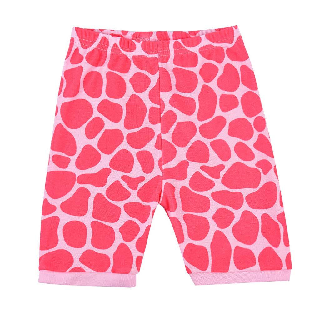 12 Months-7 Years Pollyhb Summer Baby Boys Girls Giraffe Short Sleeve Tee Shorts