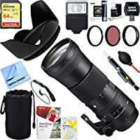 Sigma 745-306 150-600mm F5-6.3 DG OS HSM Zoom Lens Contemporary for Nikon DSLR Cameras + 64GB Ultimate Filter & Flash Photography Bundle