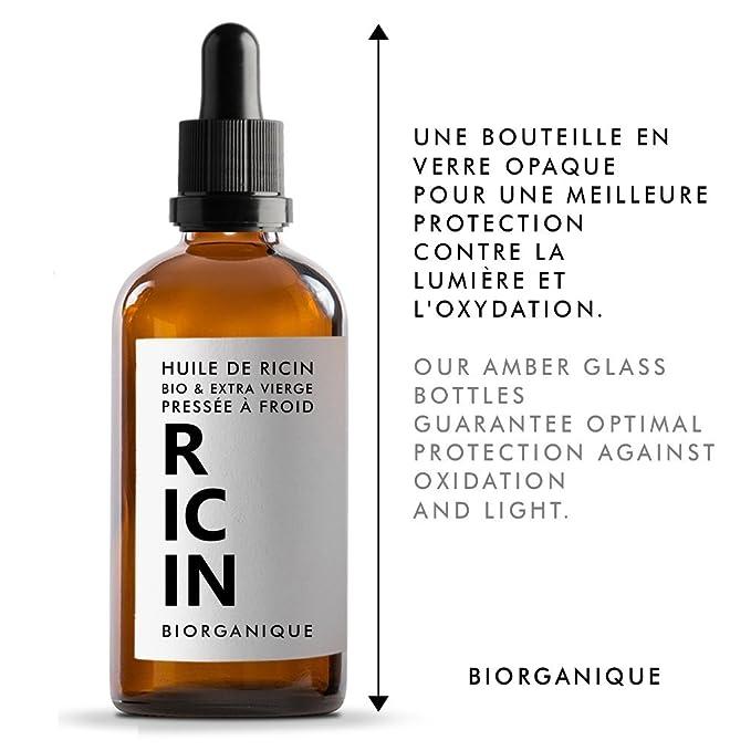 Aceite de ricino, 100 % ecológico, puro y natural, 100 ml, para el cuidado de cabello, pestañas, uñas, piel: Amazon.es: Salud y cuidado personal