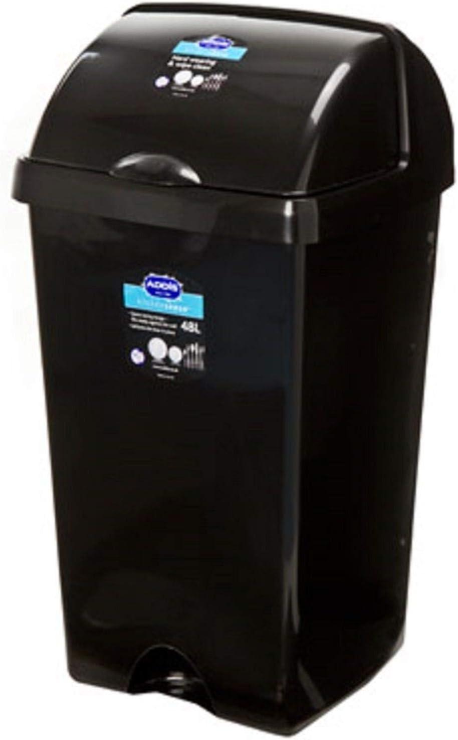 di/ámetro de la altura de 455 mm x 505 mm 50 litros blanco Industrial de calidad alimentaria de los residuos de cocina redonda papelera de pl/ástico con tapa 5 de alto rango de temperatura de blanco Industrial de la fuerza de peso pesado