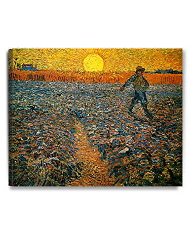 Brilliant Giclee Canvas Print - DECORARTS The Sower, Vincent Van Gogh Art Reproduction. Giclee Canvas Prints Wall Art for Home Decor 30x24