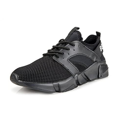 Shoes Mens Casual Shoes Outdoor Exercise Sneakers Low-Top Lace-up Shoes Running Shoes (Color : Black Size : 44)
