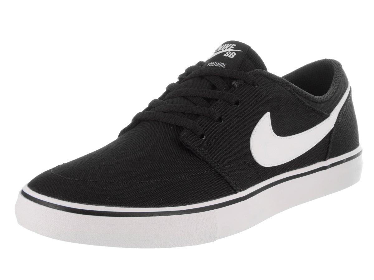 NIKE Men's Sb Portmore Ii Solar Ankle-High Canvas Skateboarding Shoe B01K3NGJ2Q 13 D(M) US|Black White