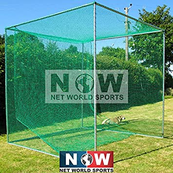 FORB Freestanding Professional Golf Cage Single Bay 10ft x 10ft x 10ft – UV Stabilized Net