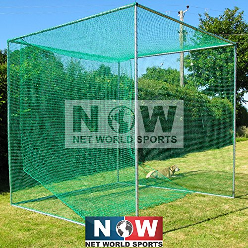 FORB Freestanding Professional Golf Cage [Single Bay] | 10ft x 10ft x 10ft - UV Stabilized ()