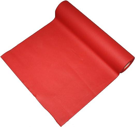 Rojo camino de mesa 25 m x 40 cm de ancho – de lino Feel ...