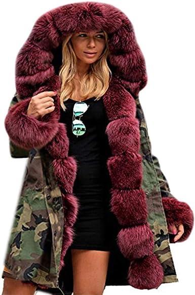 Details about Fashion Womens Thicken Warm Winter Coat Hood Parka Overcoat Long Jacket Outwear