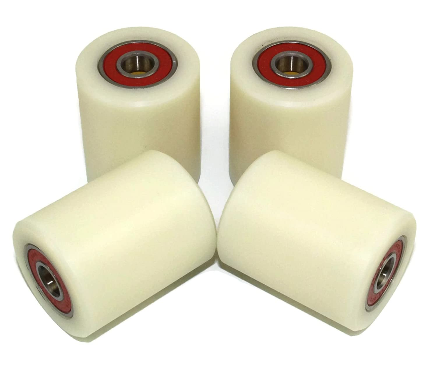 4 Pieces Nylon Polyamide Rollers 40 mm diameter 50 mm wide 10 mm bearing Precisely Machined in the EU(40-50-10) Smart Machines NyRoller30106