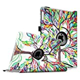 Fintie iPad Air 2 Case - 360 Degree Rotating Stand Case with Smart Cover Auto Sleep / Wake Feature for Apple iPad Air 2 (iPad 6) 2014 Model, Love Tree