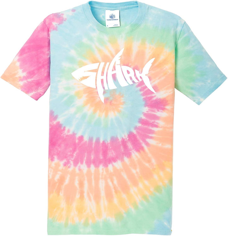 Threadrock Shark Typography Unisex Tie Dye T-Shirt