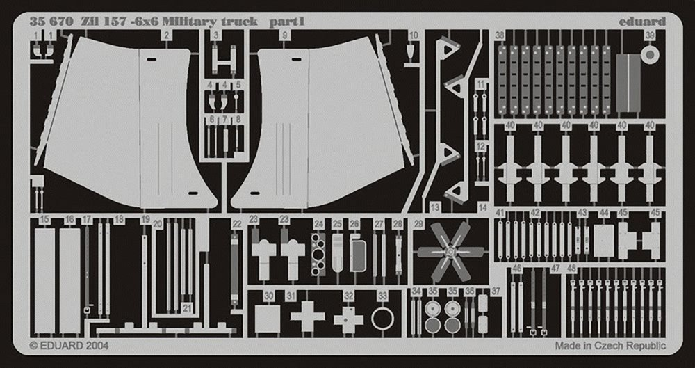 Eduard Accessories – 35670 model-making Accessory Zil 157 6x6 military Truck   B01HOS8SFO