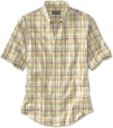 Orvis - Camisa casual - Manga larga - para hombre Verde caqui ...