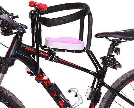 Seguro Sillas de Bicicletas para Niños Bicicleta de Montaña/Vehículo Eléctrico Asiento de Seguridad Extraíble para Bebés con Delantera Reposabrazos y Cojín Grueso para Niños 2 a 7 Años Presente, Pink: Amazon.es: Deportes