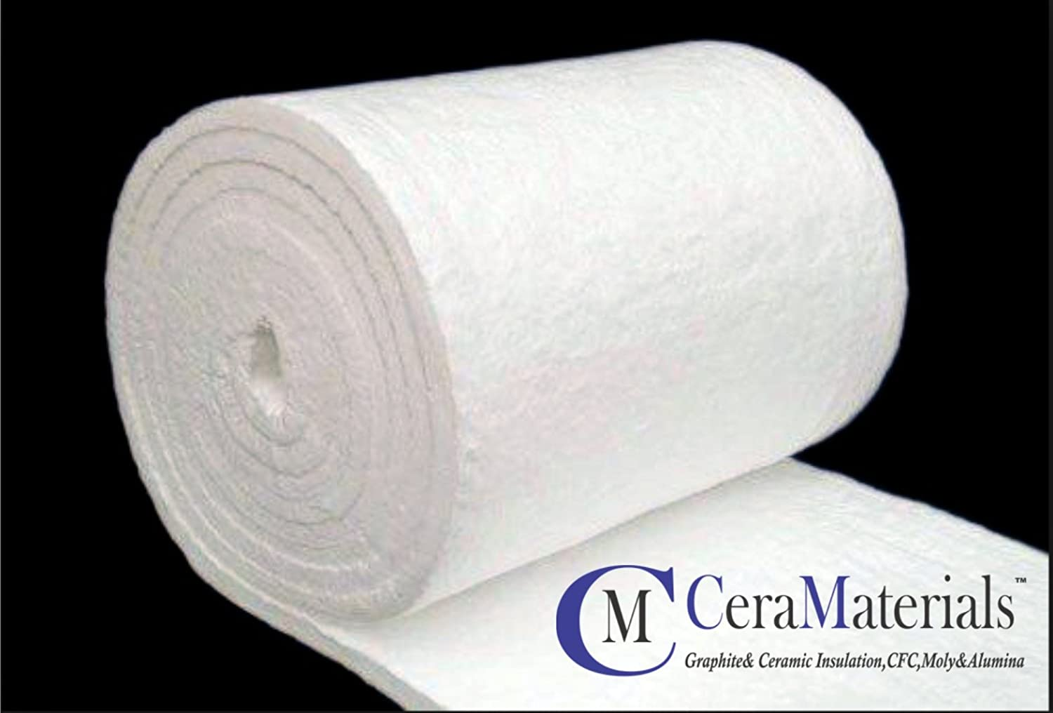 Ceramic Fiber Blanket (8#, 2300F)(2x24x12.5') for Ovens, Kilns, Furnaces, Glass Work, and Chimney Insulation CeraMaterials HPBL82024150