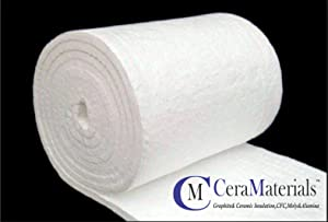 """Ceramic Fiber Blanket -Insulation 8#, 2600F,1""""x24""""x25' Wood Stoves, Pizza Ovens, Forges & More"""