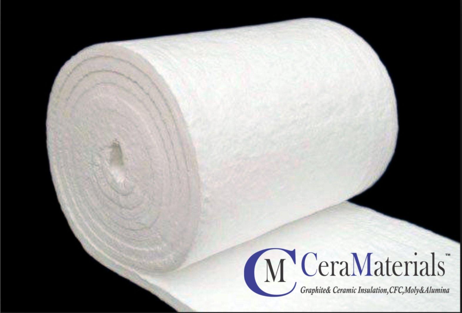 Ceramic Fiber Blanket (8#, 2300F)(1/2''x24''x50') for Kilns, Pizza Ovens, Furnaces, Wood Stoves