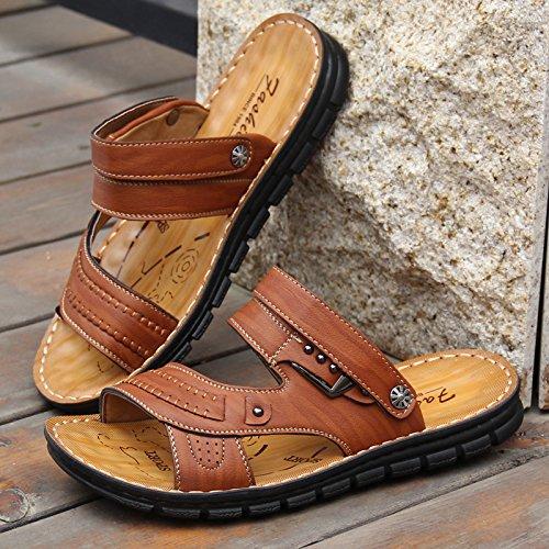 ZHANGJIA Flip Flops, Sommer Unten, Fashion Toe Toe Toe Toe Sandalen, Füße, Rutschfeste Badeschuhe, Dual-Purpose Coole Hausschuhe, 39, Hellgelb 103 a6fc92