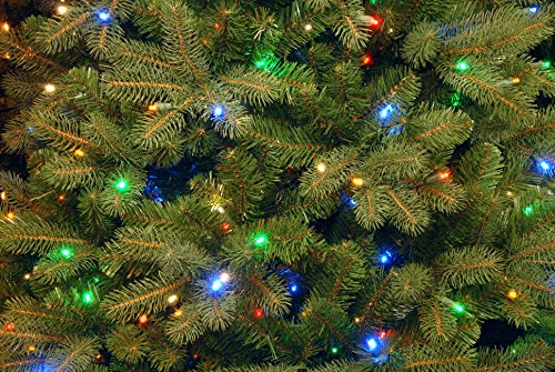 National Tree 7.5 Foot ''Feel Real'' Downswept Douglas Fir Tree with 750 Dual Color LED Lights and On/Off Switch, Hinged (PEDD1-312LD-75X) by National Tree Company (Image #2)