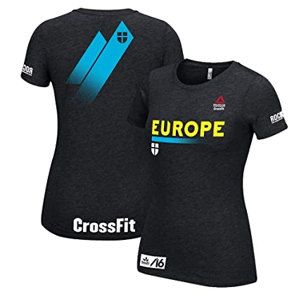 Image Unavailable. Image not available for. Color  Reebok Women s 2016  Crossfit Europe Black T-Shirt 90d69987dcc
