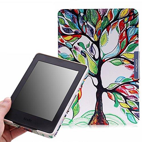 MoKo Kindle Paperwhite Hülle - Ultra Leightweight Slim Schutzhülle Tasche Schale Smart Case für Alle Kindle Paperwhite (2015/2014/2013/2012 Generation mit 6 Zoll Display und Einbauleuchte), Glück Baum