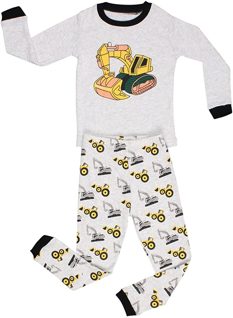 "Elowel Little Boys /""Fire Truck/"" 2 Piece Pajama Set 100/% Cotton"