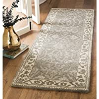 Safavieh Royalty Collection ROY993A Grey and Cream Traditional Oriental Wool Runner (23 x 7)