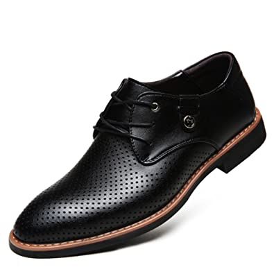 eb53ed484ebdc7 Durchbrochenen Schuhe  Herren Frühjahr Sommer Schuhe Sandalen aus  Leder Business casual Herrenschuhe
